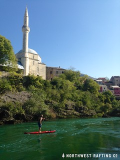SUP and Mosque on the Neretva River