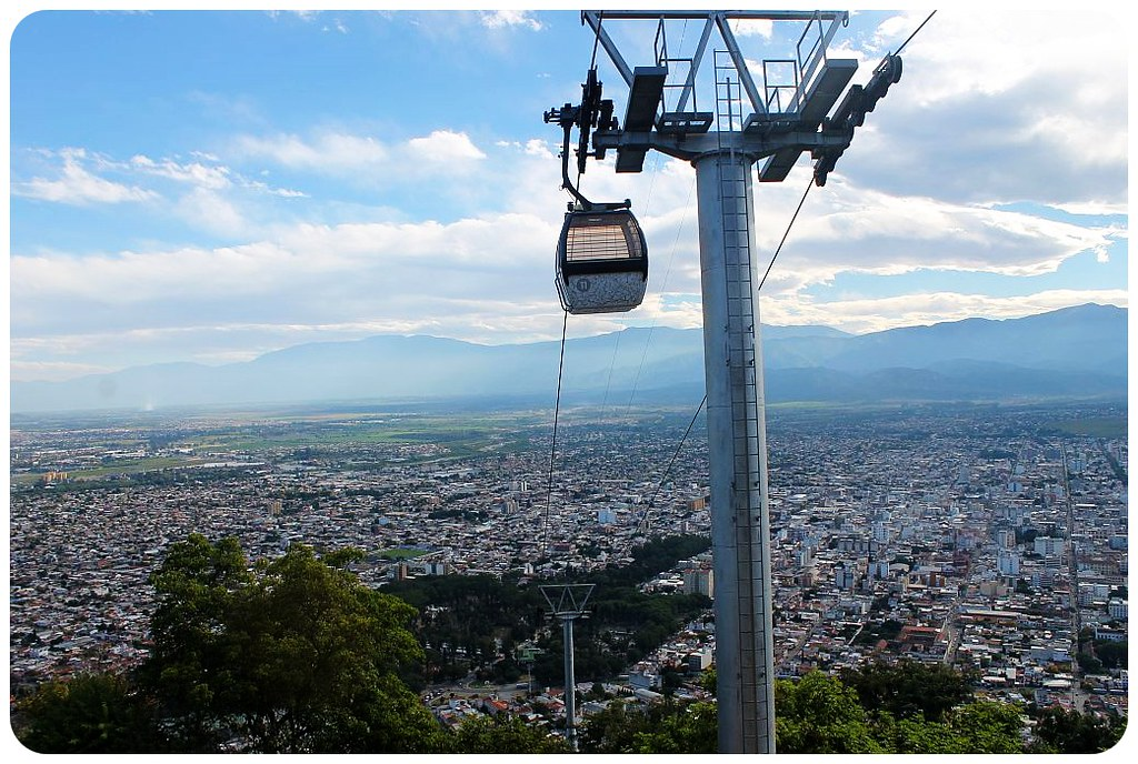 salta view and cable car