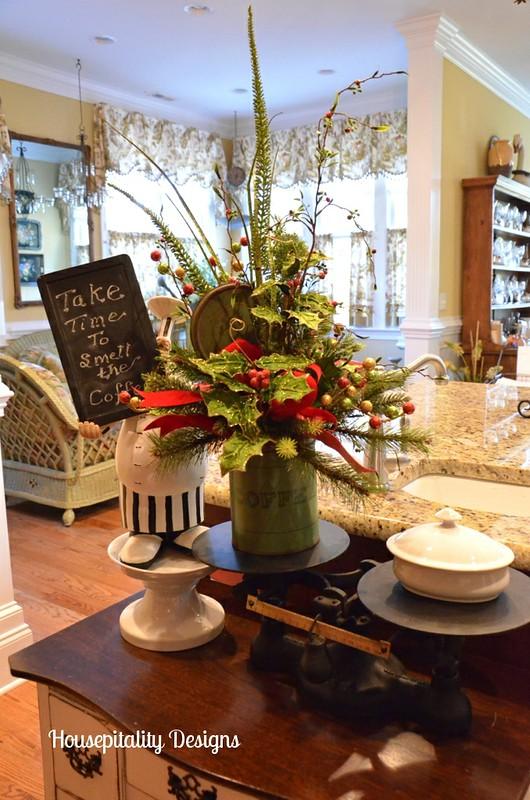 Vintage Coffee Tin Flower Arrangement
