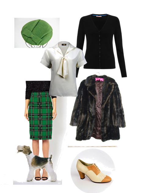 the-thin-man, movie, film, pencil-skirt-, green, faux-fur, coat, fox-terrier,