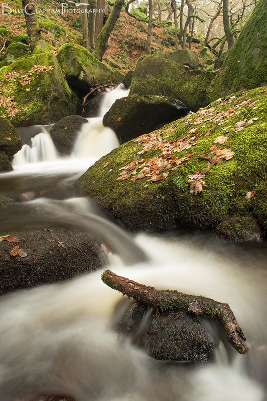 river landscape long exposure photography by billy clapham, padley gorge, peak district