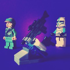 Clone Trooper Lieutenant present : Weapon Rack