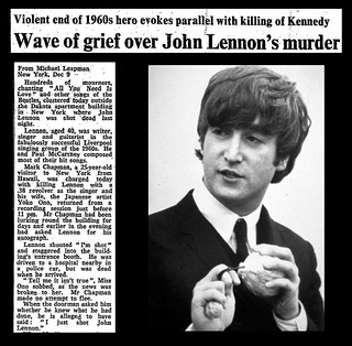 8th December 1980 - John Lennon