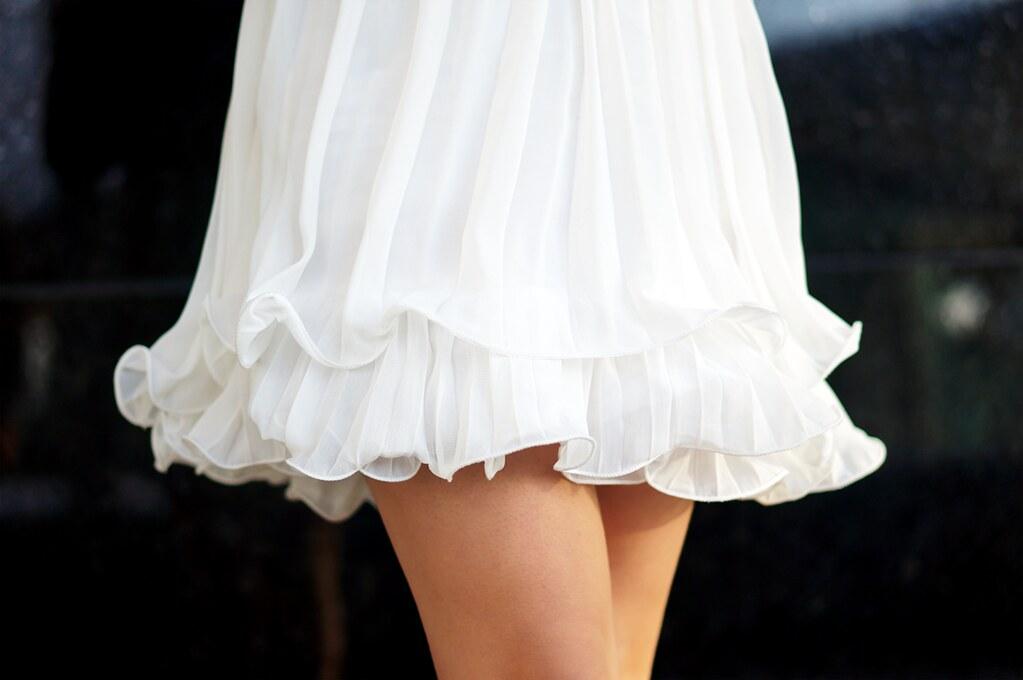 Petite Hues, Pour la Victoire Chantel Pumps, Chicwish Embellished Pleated Dress, Christmas Outfit Ideas