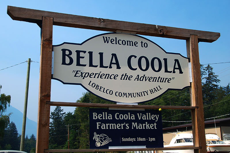 Bella Coola, Bella Coola Valley, Coast of Central British Columbia, Canada