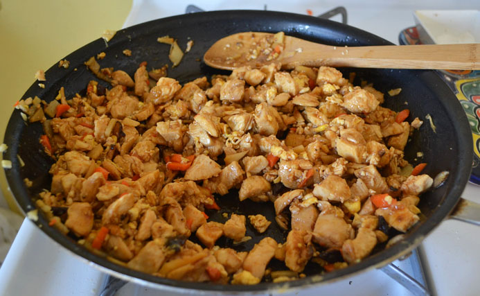 Spicy Asian Chicken Lettuce Wraps via LittleFerraroKitchen.com