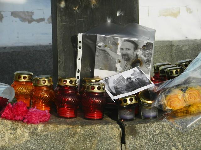 Лампадки возле Михайловского собора
