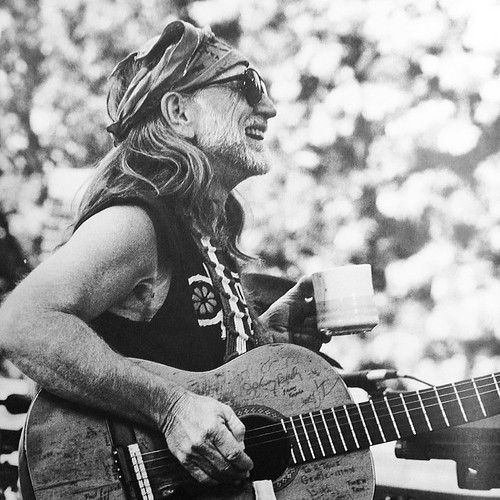 """That's our job, to keep farmers on the land. We think about saving the family farm. I believe the family farm will save us."" -Willie Nelson Photo by David Gahr"