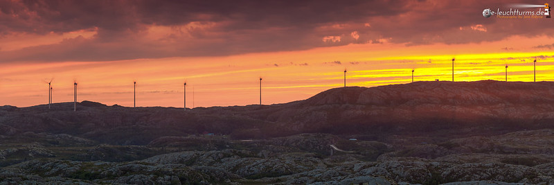 Sunset at Windmillpark Husfjellet
