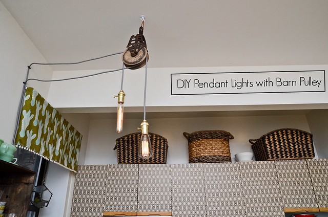 Diy Pendant Lights With Barn Pulleys Stars For