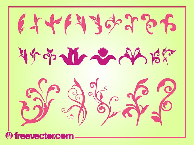 Curvy Blooming Flower Pack Silhouette fresh best free vector packs kits