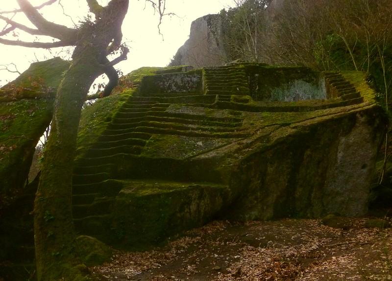 etruscan pyramid - Bomarzo