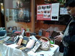 Volunteer Tejendra manning the stall [UBC Fundraiser]