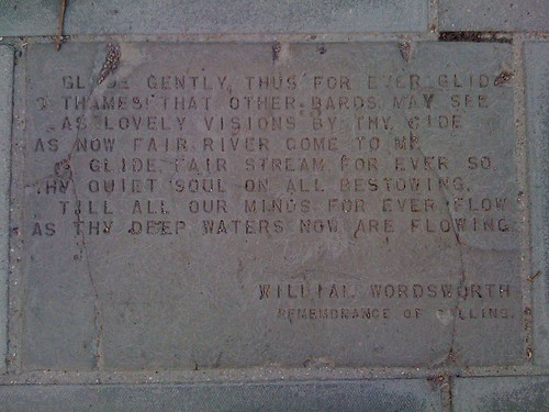 Pavement poetry, South Bank: Remembrance of Collins - William Wordsworth