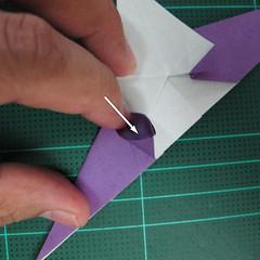 วิธีพับกระดาษเป็นรูปนกอินทรี (Origami Eagle) 022