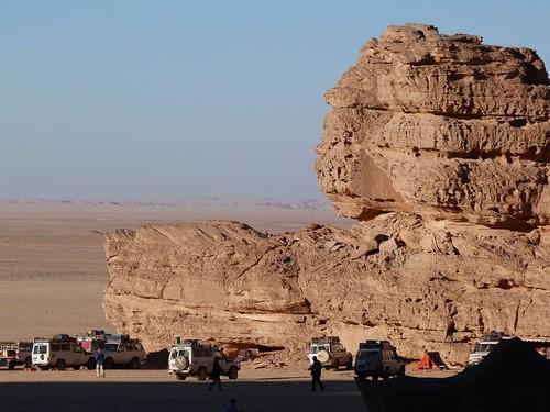 Campamento en Wadi Sura de la Expedición Kamal