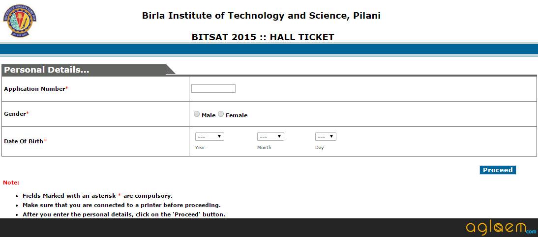 BITSAT Admit Card