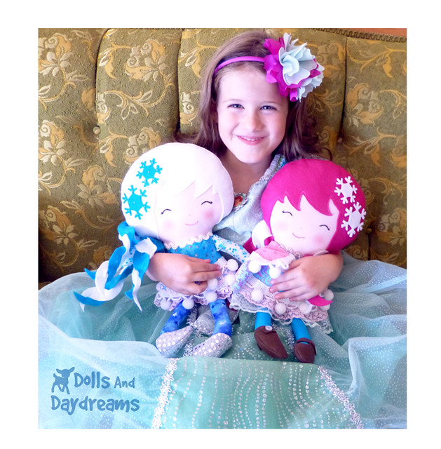 Snow Sisters PDF photo tutorial Doll Pattern