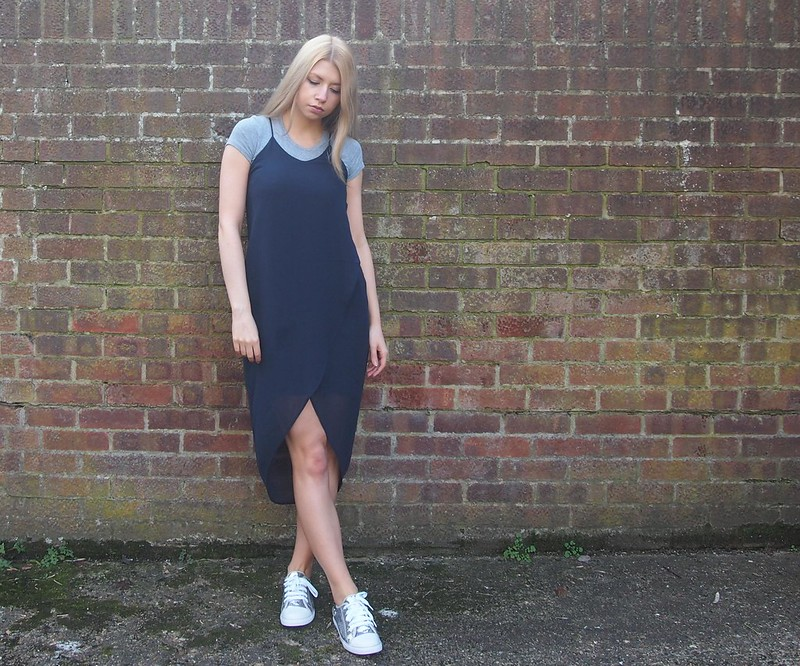 H&M, SS14, Slip Dress, Spaghetti Strap, V-Cut, Mixi, Drop Hem, Glitter Trainers, M&S, Marks & Spencer, Autograph Kids, Sam Muses, UK Fashion Blog, London Style Blogger, How to Wear, Styling Ideas, Outfit Ideas, '90s, Nineties
