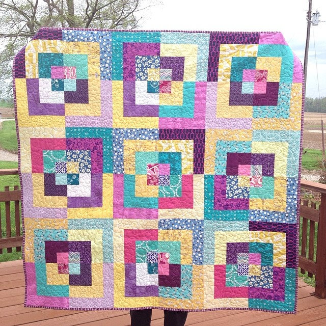 My farmer/quilt holder got rained out of the fields long enough to help with a few pics. Finally!! #imaginecircle #dogoodstitches