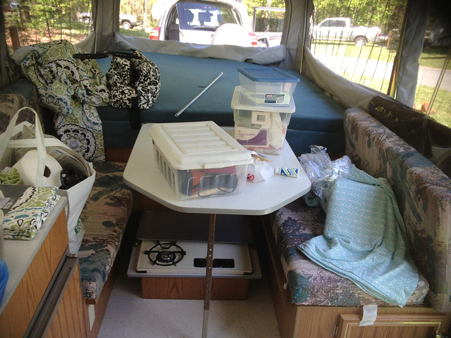 camper before. Maria and John s Remodeled Pop Up Camper   DIY Del Ray