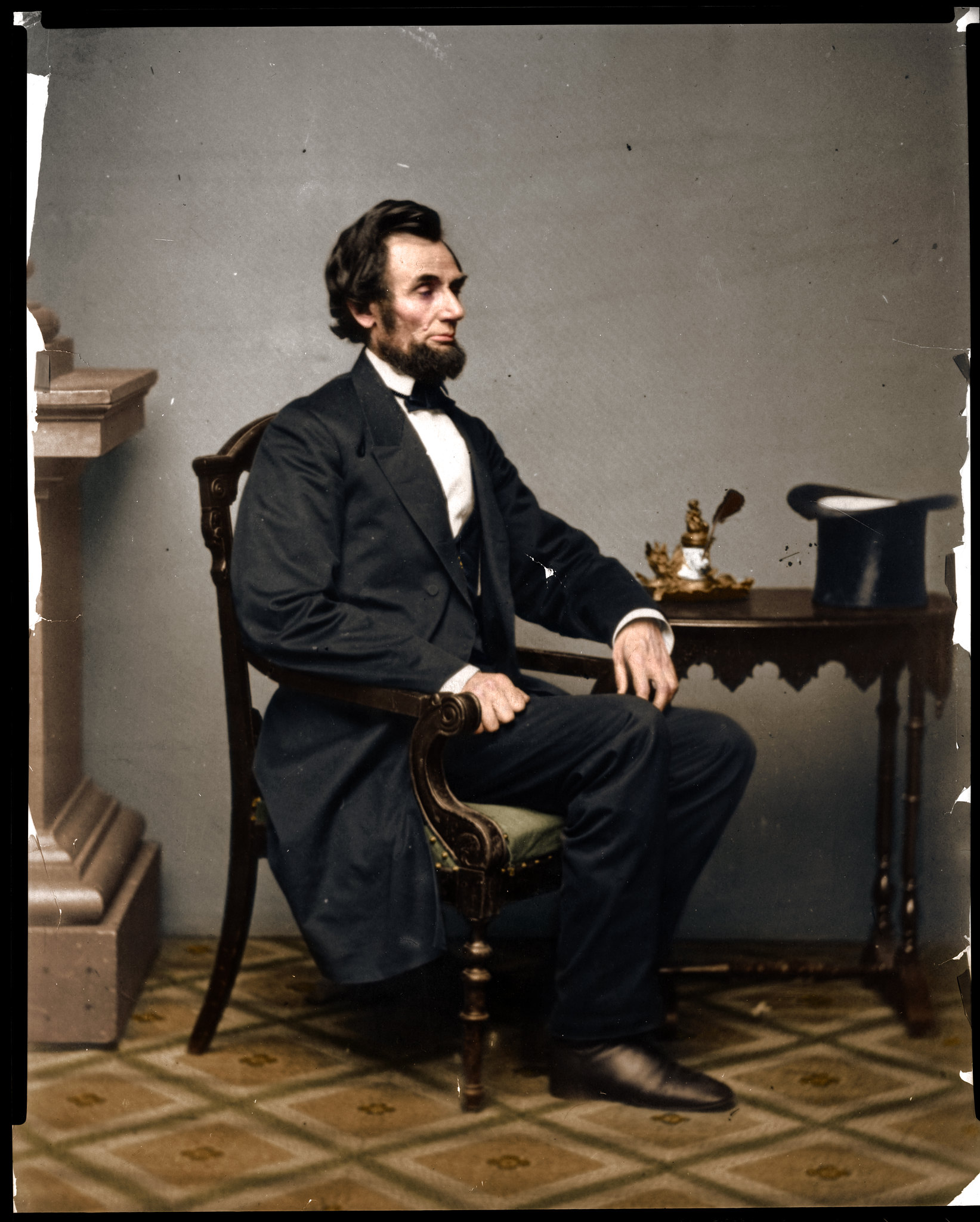 Colorized Photograph Of Abraham Lincoln In 1861 Pics