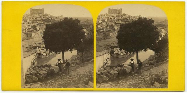Gran almez junto a la ermita del Valle en 1863. Fotografía Atribuida a Ernest Lamy. Colección Luis Alba