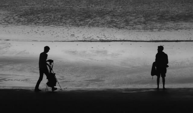 photographer on Ocean Beach, San Francisco; February 2, 2015