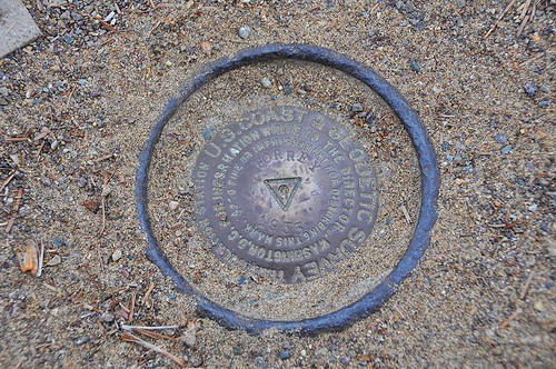 USGS marker for Torrey Pines highpoint