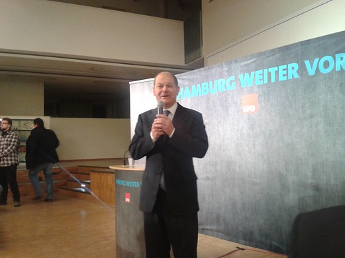 Olaf Scholz im BGZ Süderelbe im Januar 2015