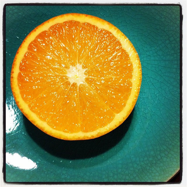 (And it was a yummy one!) #orange #turquoise #vitamin #sun #colours #colourlove #project365