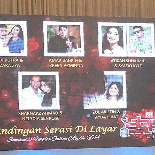 Congrats &Amp; Good Luck Utk Top 5 Dlm Kategori #Gandinganserasidilayar #Abpbh2014 Pasangan Mana Pilihan Korang?