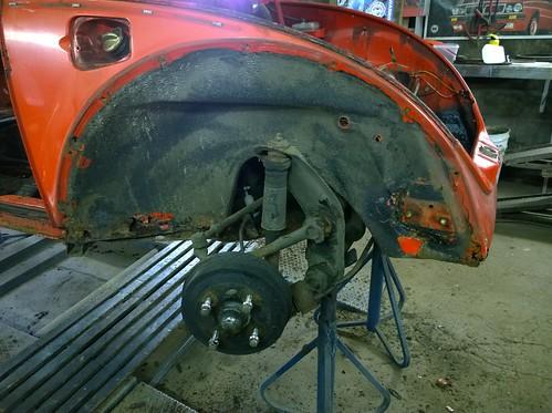 Beetle dismantled