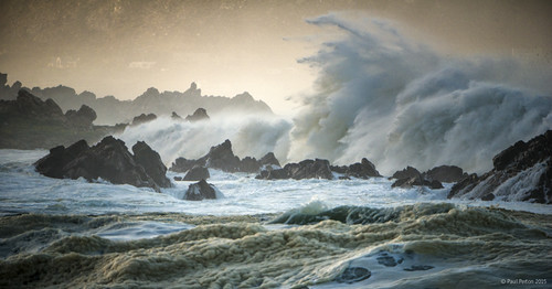 morning storm wave falsebay rooiels