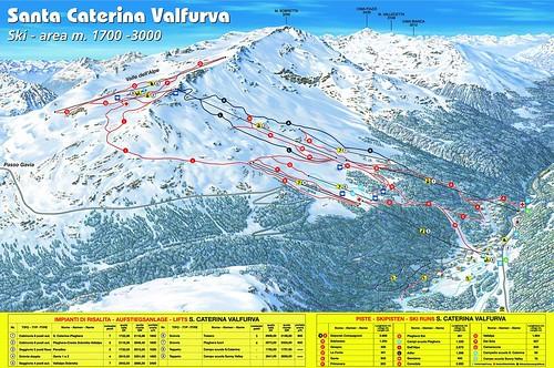 Santa Caterina - mapa sjezdovek