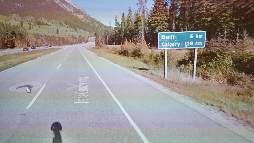 Banff 6km, Calgary 138 km #ridingthroughwalls