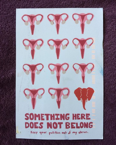 Any questions.  I didn't think so.  Thank you to artist Arielle Sebestyen.  #reproductiverights #womenshealth #drawtheline #craftivism #shesgotovies #prochoice #mybodymychoices #whatsinyourmailbox