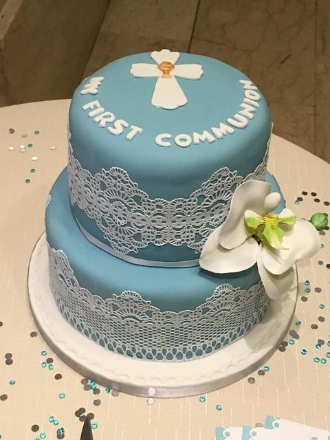 Holy Communion Cake (all edible) by Annabelle Grech of Bella's Cake Creations