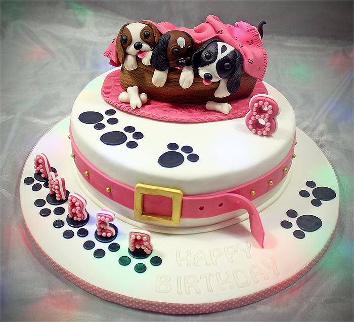 Puppy Birthday Cake by Josette Magri