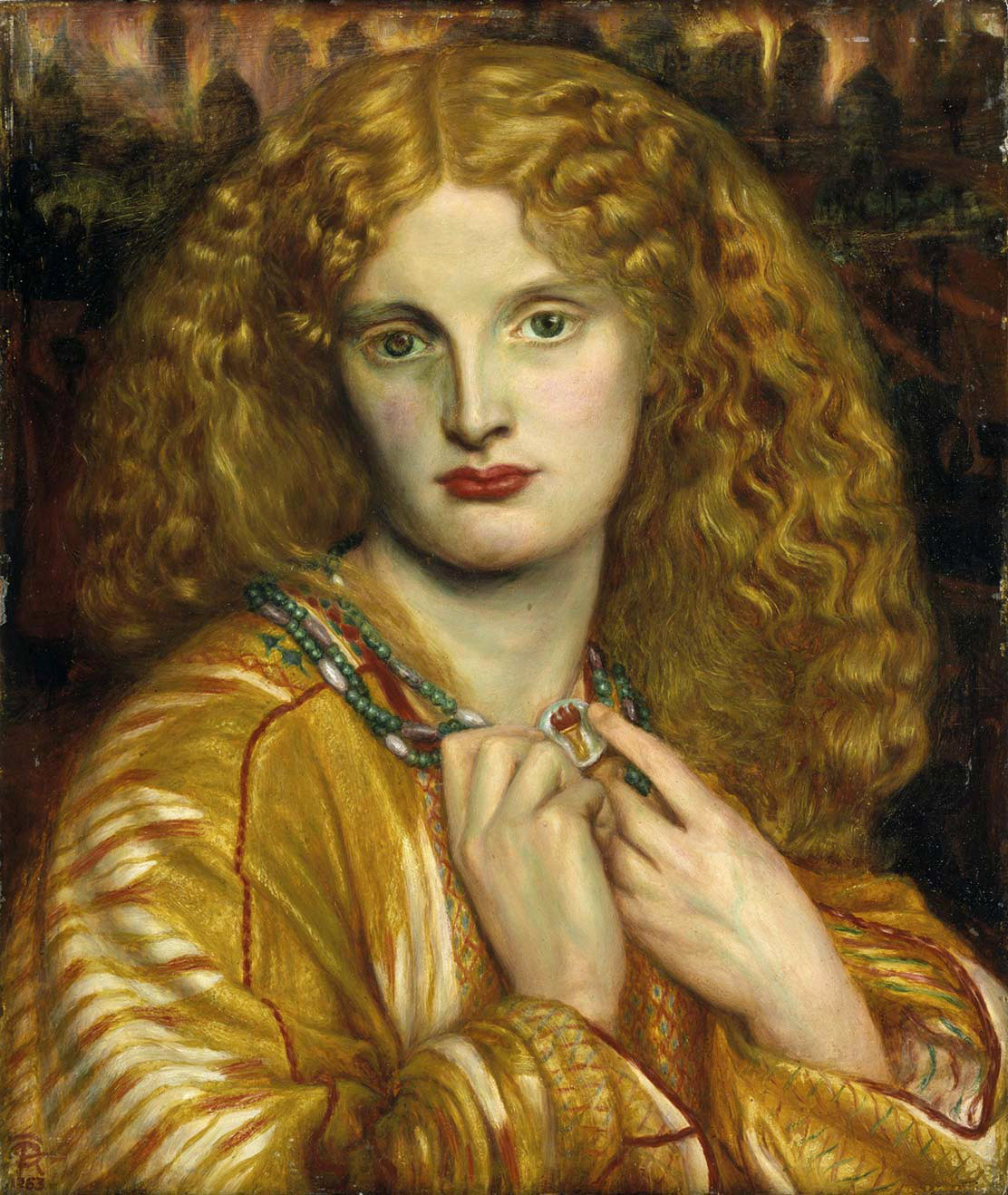Helen of Troy by Dante Gabriel Rossetti - 1863