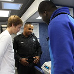 May 5, 2016 - 10:36 - Camden County students on the 'BAT' Breath Alcohol Testing Mobile Unit.