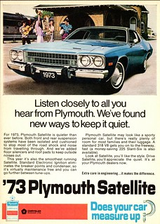 1973 Plymouth Satellite Ad (Canada)
