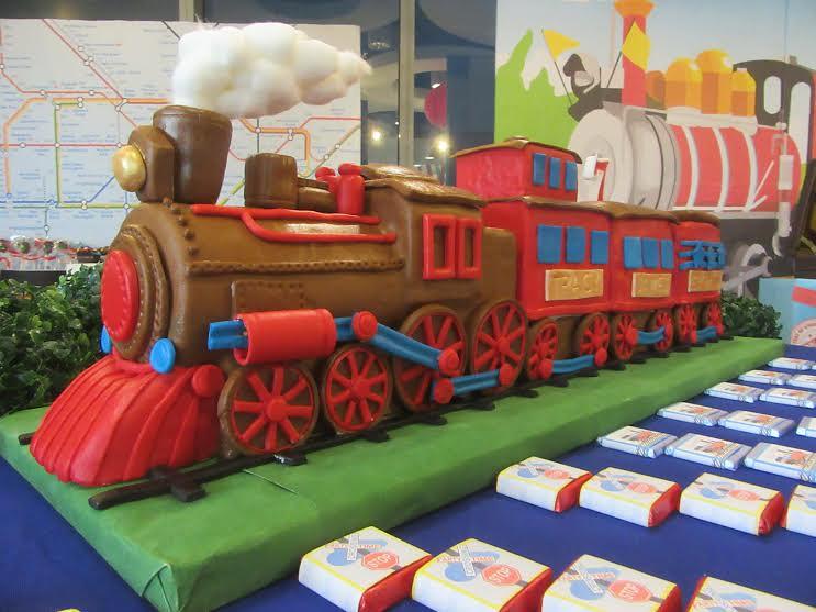 Train Cake by Mel N. Luspo of Mel's Kitchen