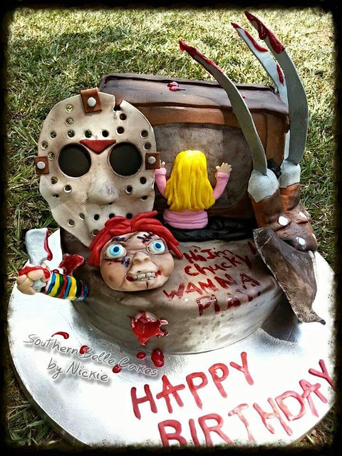 Horror Movie Cake from Southern Belle Cakes by Nickie