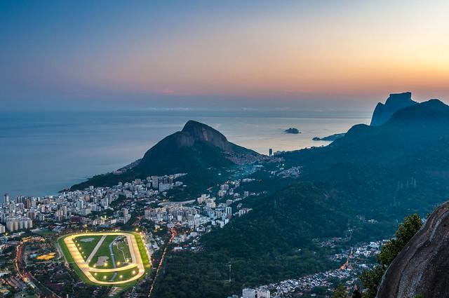 Twilight of Rio de Janeiro - View from Corcovado, Brazil