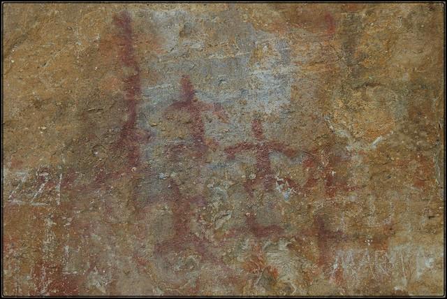 Una de las pocas pinturas rupestres El Calafate