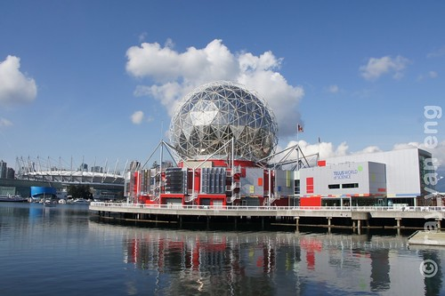 Telus World of Science, a legacy building from Expo 86, the Vancouver's World Exposition with a Geodesic Dome