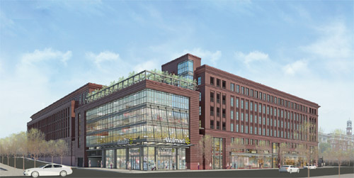 Walmart rendering, 1st and New Jersey Avenue NW