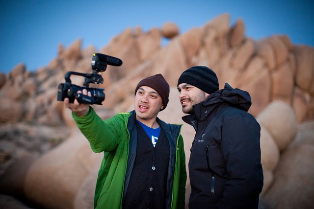 Manfrotto Be Free Tripod ad shoot BTS - Joshua Tree BTS The Bui Brothers