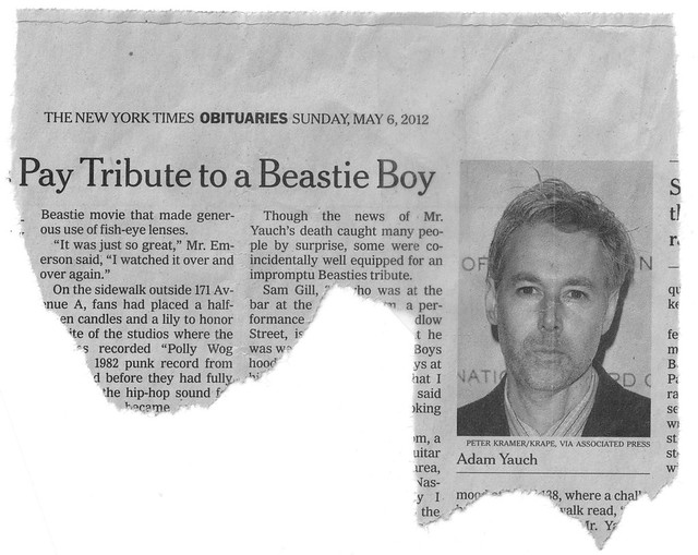 Header of Adam Yauch